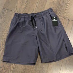 NWT O'Neill grey swim shorts